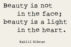 beauty is not the face